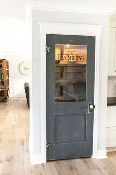 Use an old door to add character to a new home - love this pantry door eclecticallyvintage.com
