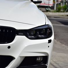Bmw f30 fitted with new headlight light tube