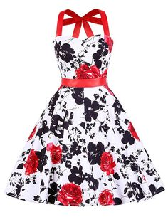 Grace Karin Women Summer Floral Print Retro 50s Vintage Swing Robe Pin Up Casual Rockabilly Dress Plus Size Summer Dresses 4595 Alternative Measures