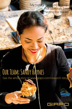 Our team: Introducing Sandy Haynes Eating Ice Cream, My Highlights, Auckland, Hard Work, How To Introduce Yourself, People, Maori, People Illustration, Folk
