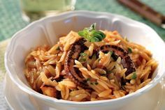 Orzo with Octopus Orzo Recipes, Greek Recipes, Vegan Recipes, Cooking Recipes, Greek Octopus Recipe, Octopus Recipes, Greek Meze, Meals Without Meat, The Kitchen Food Network