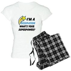 Cafepress Personalized What's Your Super Power Your Occupation Women's Light Pajamas, Size: Small