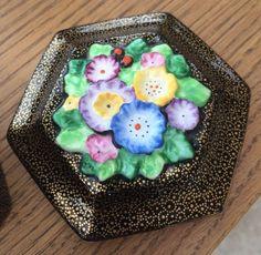 Tuscan Plant china trinket lid Acai Bowl, Art Deco, China, Breakfast, Cake, Desserts, Plants, Vintage, Food