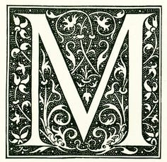 Antique French print from the Nouveau #Larousse Illustrated published in Paris between 1897 to 1907. This is the original print, not a copy. The reverse side is printed. Fra... #abc #letter #alphabet #scrapbooking #initial #calligraphy #m #dictionary #larousse