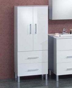 Badezimmerschrank Mit Zwei Schubladen Weiß Grau Jetzt Bestellen Unter:  Https://moebel
