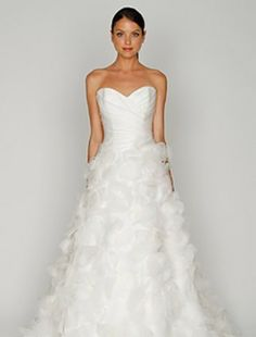 Bliss by Monique Lhuillier - Sweetheart A-Line Gown in Organza