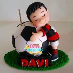 Fondant Cake Tutorial, Fondant Toppers, Fondant Cakes, Cupcake Cakes, Soccer Birthday Cakes, Soccer Cake, Baby Boy Birthday, Soccer Party, Barcelona Cake