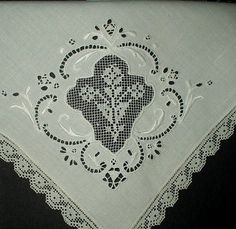 The Gatherings Antique Vintage - Antique 1900 Italian Linen Napkins Darned Lace Inset, $48.50 (http://store.the-gatherings-antique-vintage.net/antique-1900-italian-linen-napkins-darned-lace-inset/)