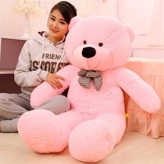 "19/"" Giant White Teddy Bear Stuffed Animal Soft Plush Doll Toy Kids Birthday Gift"