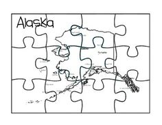 This is an Alaskan puzzle map with two map reflection pages.