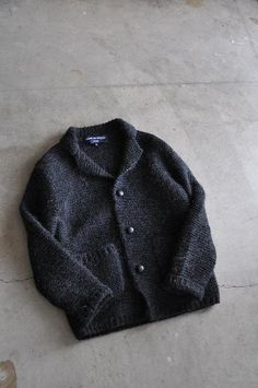Wish I could find this pattern on Ravelry! COMME des GARCONS HOMME  Garter Hand-Knit 3B JK  w/tax ¥51450
