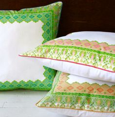 Pillows & Poufs -These pillows are so crisp!