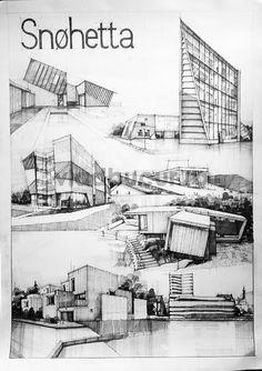 by Vlad Bucur Architecture Concept Drawings, Architecture Panel, Concept Architecture, Architecture Design, Architect Sketchbook, Schematic Design, Building Sketch, Interior Design Sketches, Deco