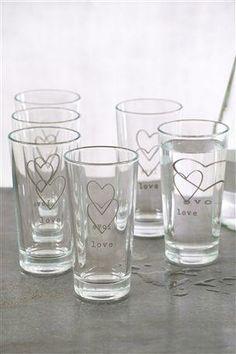 Set Of 6 Love Tumblers