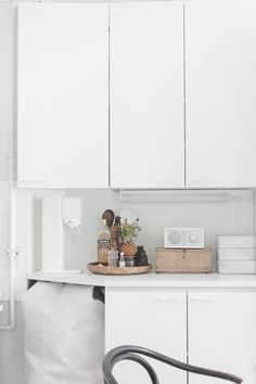 Modern and clean. The Model One goes perfectly in this simple kitchen.