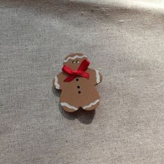 Wooden Gingerbread Pin by SnowflakesToSnowmen on Etsy