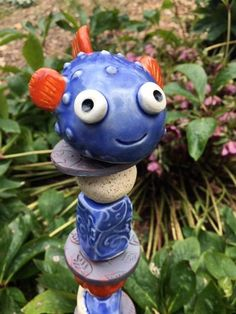 North Plains, Clay Projects For Kids, Fish Garden, Squirrel Feeder, Clay Fish, Garden Totems, Floor Plants, Fire Clay, Yard Art