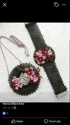 Needle Tatting, Needle Lace, Diy Jewelry, Jewelry Making, Rakhi, Crochet Accessories, Beading Tutorials, Crochet Flowers, Needlepoint