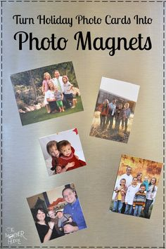 Turn Holiday Cards Into Photo Magnets - a fun way to hang onto all those little photos!