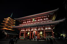 Asakusa temple; north east of Tokyo. Very traditional area in Tokyo. You can enjoy seeing Andalusia temple and shopping Japanese cultural stuff.