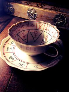Cup Of Destiny Fortune Telling Teacup // I want to gift this so badly it hurts.