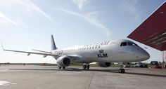 Delivery KLM cityhopper Embraer 190 in Skyteam colours at Amsterdam Schiphol