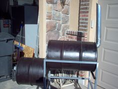 This is my first Instructable so don't laugh. Hopefully by the end of this you will be able to build your own BBQ smoker out of some barrels. I believe this smoker is called an offset drum smoker. With it you can smoke meats and foods. It uses charcoal and fruit wood as fuel/smoke. This requires a lot of welding and cutting but if you don't have a welder you may be able to rivet it together but since I think rivets suck I weld things.