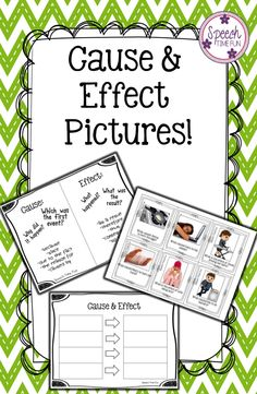 Speech Time Fun: Cause & Effect Pictures!  Fun way to work on responding to cause/effect questions using images!  Graphic organizer and visual aid included!