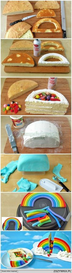 Rainbow surprise cake!