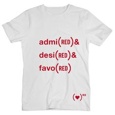 Fab.com | Admi(RED) & Desi(RED) Tee White