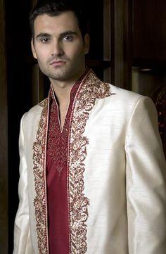 silk sherwani wedding