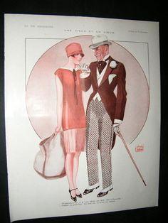 La Vie Parisienne Art Deco Print 1926. Une Villa et Un Coeur by Leonnec | eBay