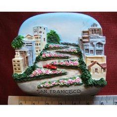 Lombard Street San Francisco USA America High Quality Resin 3D fridge Refrigerator Thai Magnet Hand Made Craft        . Free Shipping Check Price >> http://www.amazon.com/Francisco-Refrigerator-Thai-Magnet-Craft/dp/B009ZW8L1E