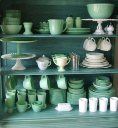 What I hope my Jadite collection looks like someday... via @Robyn Stone