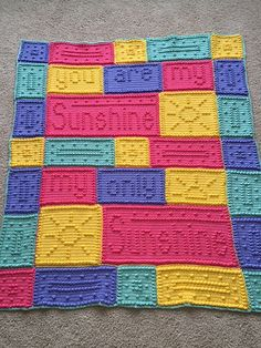 Knitting Pattern For You Are My Sunshine Blanket : Pinterest   The world s catalog of ideas