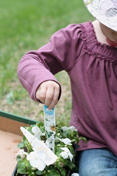Mother's Day gift idea | family tradition | children and grandchildren planting flowers for mom or grandma