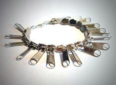 Armbänder - Armband Zipper Schmuck Armbänder Modeschmuck - ein Designerstück von ausgefallene-Ohrringe bei DaWanda