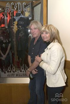 Cliff Williams and his wife The Hard Rock unveils a new display case to honour of Cliff Williams of AC/DC