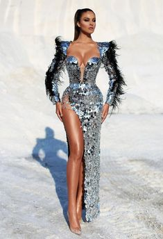 Best Maxi Dresses, Gala Dresses, Event Dresses, Cute Dresses, Beautiful Dresses, Fashion Dresses, Modest Fashion, Fashion Clothes, Long Sequin Dress