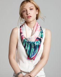 Charlotte Sparre Big Bang Print Silk Scarf | Bloomingdales