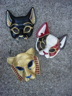 How to Make Egyptian God/ Goddess Masks / cat dog masks