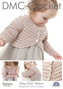 DMC Baby Girls Bolero Crochet Pattern 14933L/2