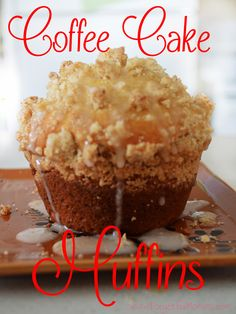 Coffee cake is perfect along side a hot cup of coffee anytime of day, morning, noon or night. It doesn't have to be for a special occasion. Muffin Recipes, Baking Recipes, Cake Recipes, Breakfast Recipes, Snack Recipes, Dessert Recipes, Breakfast Bites, Baking Tips, Smoothie