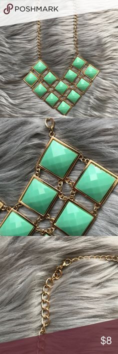 """Lauren Conrad Mint Necklace A very pretty necklace to brighten up your outfit! It's new, never been worn. It measures about 12"""" in length. LC Lauren Conrad Jewelry Necklaces"""
