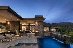 Infinity Pool, Terrace, Modern Home in Scottsdale, Arizona if I could pick anywhere to live it would be here