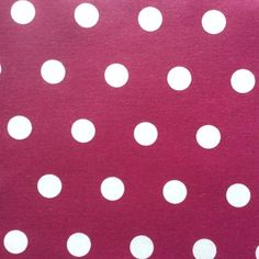 Pastille Spot In Raspberry French Extra Wide Oilcloth It Is Acrylic Coated  Cotton The Advantages Of
