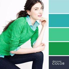 Colores que siempre combinan* bien. Discover Color.