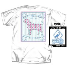 Lab Puppy w Shotgun YOUTH Southern Strut Cotton T Shirt