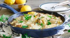 An easy Greek lemon chicken and rice dinner in one pan is exactly what your weeknight needs