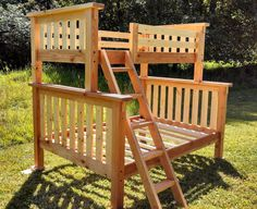 Back To The Mountain Twin/full Bunk Bed - Fir/pine, Solid Wood, All Natural…
